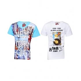 Multicolour T-shirt For Boys (pack Of 2)