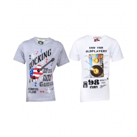Multicolour T-shirt For Boys (pack Of 2)