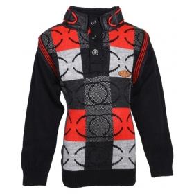 Multicolour Wollen Full Sleeve Pullover For Boys