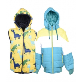 Multicoloured Jacket For Boy Kids