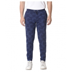 Navy Cotton Blend Joggers Single