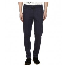 Navy Cotton Trackpants