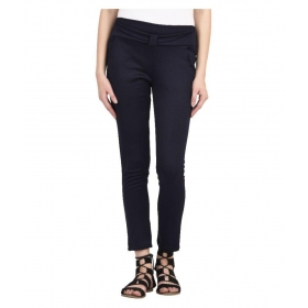 Navy Blue  Synthetic Jeggings