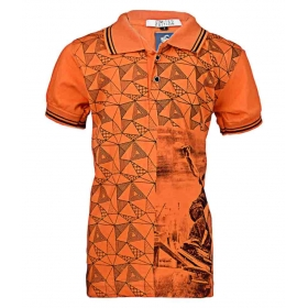 Orange Color Polo-neck T- Shirt For Boys