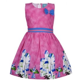 Pink Cotton Frock For Girl