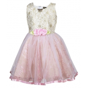 Pink Net Frock For Girl's Kid's