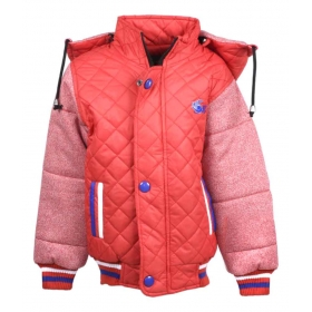 Red Full Sleeve Quilted Jacket