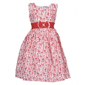 Red Net Frock For Girl