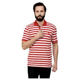 Red Slim Fit Polo T Shirt