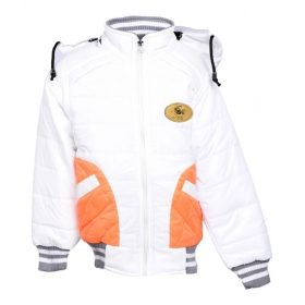 White Polyester Quilted & Bomber Jacket