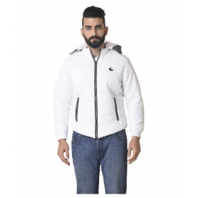 White Quilted & Bomber Jacket