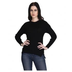 Woollen Regular Tops  Black