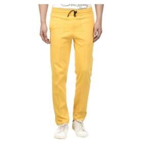 Yellow Cotton Trackpants