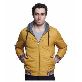 Yellow Solid Casual Jackets