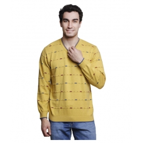 Yellow V Neck Sweater
