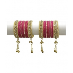 Carrot Colour Amazing Collection Of Latakhan Bangles Set