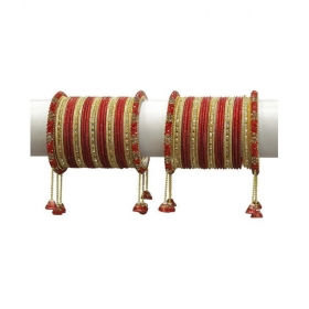 Desginer Red Ethnic Collection Of Latakhan Bangles