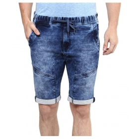 Denim Blue Shorts For Men