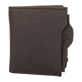 Multi Pocket Wallet With Side Zipper In Black