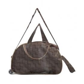 N Choice Brown Solid Duffle Bag