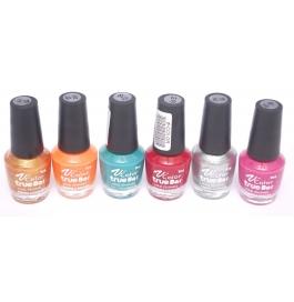 V-color True Bar Nail Polish Set Of 6 Pcs. (set # 44)