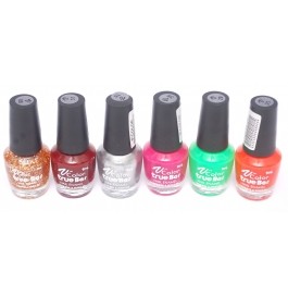 V-color True Bar Nail Polish Set Of 6 Pcs. (set # 43)