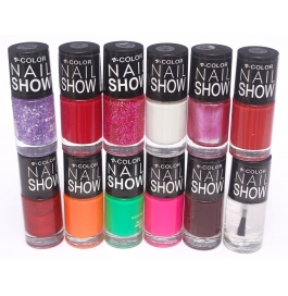 V-color Nail Show - Nail Polish Set Of 12 Pcs. (set # 4)