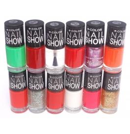V-color Nail Show - Nail Polish Set Of 12 Pcs. (set # 18)