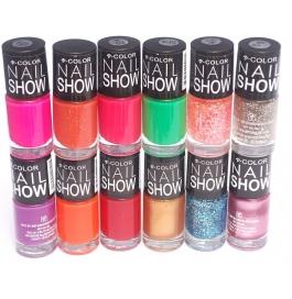 V-color Nail Show - Nail Polish Set Of 12 Pcs. (set # 20)