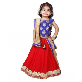 Red Silk Comfortable Lehenga Choli Set