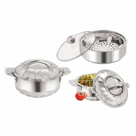3 Pieces Stainless Steel Casserole Set