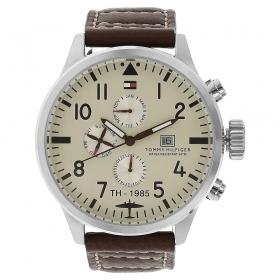 Off-white Dial Metal Strap Watch (nath1790684j)