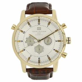 White Dial Leather Strap Watch (nath1790874j)