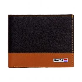 Naysa Leather Black Casual Regular Wallet