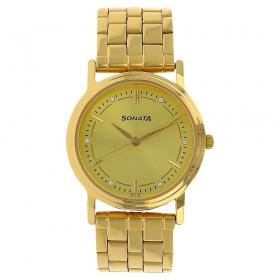 Sonata Analog Watch For Men (nd1141ym22c)