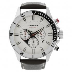 Fastrack Big Time Chronograph Watch For Men (nd3072sl01)