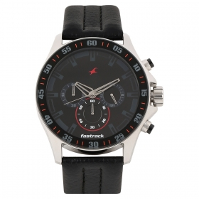 Fastrack Chrono Upgrade Analog Black Dial Men's Watch - Nd3072sl06