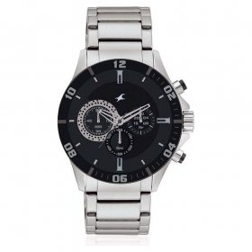 Fastrack Big Time Chronograph Watch For Men (nd3072sm02)
