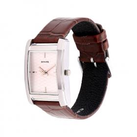 Sonata Silver Dial Leather Strap Watch (nd7953sl01cj)