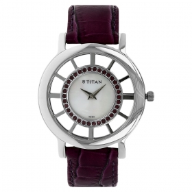 Titan Mother Of Pearl Dial Analog Watch For Women (ne9929sl01j)