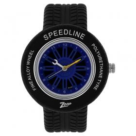Blue Dial Plastic Strap Watch (nec3021pp01cj