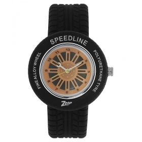 Orange Dial Plastic Strap Watch (nec3021pp02cj)
