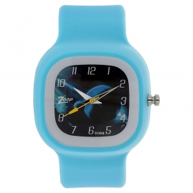 Blue Dial Plastic Strap Watch (nec3030pp09c)