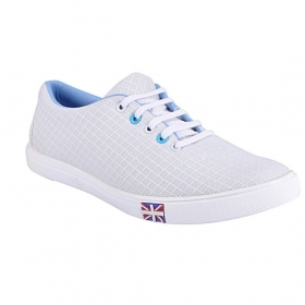 Blinder Men's Mesh White Casual Sneakers Shoes
