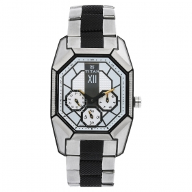 Titan Silver Dial Multifunction Watch For Men (nf1658km01)