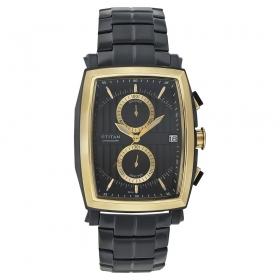 Black Dial Chronograph Watch (nf1660km02)