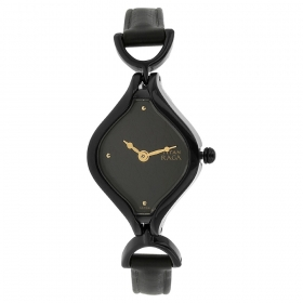 Black Dial Leather Strap Watch (nf2531nl01)