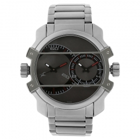 Grey Dial Stainless Steel Strap Watch (nf3098sm01c)
