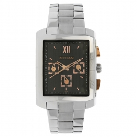 Titan Euro Black Dial Chronograph Watch For Men (nh1679sm02)