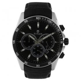 Titan Black Dial Chronograph Watch For Men (nh90022kl01e)